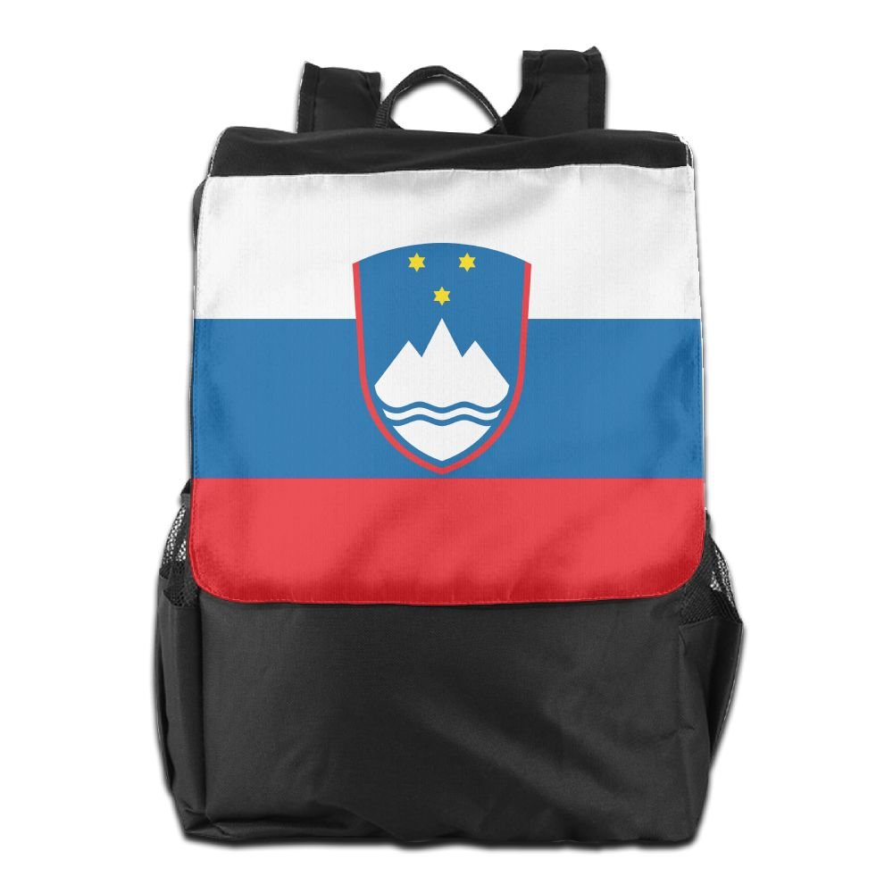 Kuswaq Flag Of Slovenia Unisex Casual Backpack School Travel Shoulder Bag Lightweight Packable Durable Travel Hiking Backpack Daypack outlet