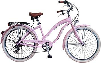 Via Veneto Bicicleta Urbana de Paseo - Cruiser Donna Rosa Mujer ...