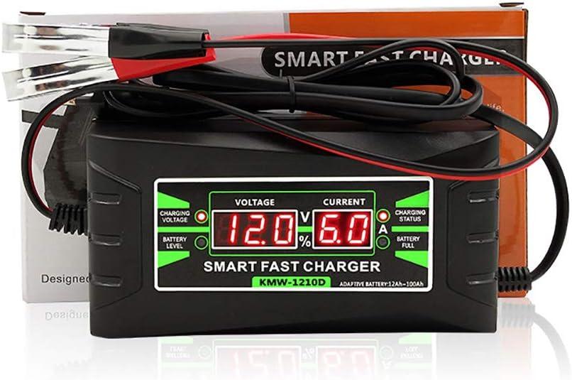 Chargeur de Batterie au Plomb//Gel daffichage Intelligent YTBLF Chargeur de Batterie de Voiture 12V