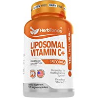 Liposomal Vitamin C 1500mg Immune Support & Immune System Health Booster High Absorption Vitamin C and Collagen Booster…