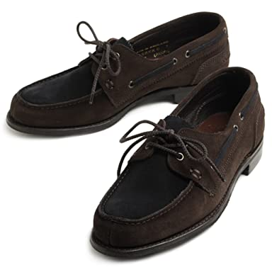 Joseph Cheaney Maverick D Nautically Inspired Shoe: Dark Brown / Navy Suede