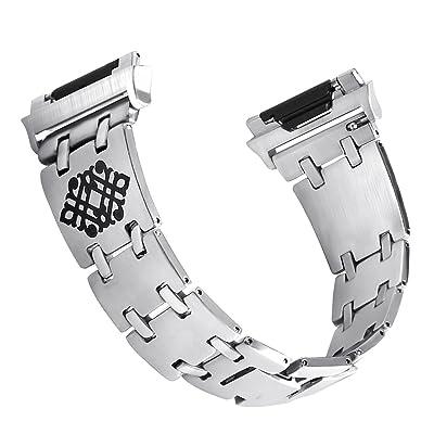 Watch Band, Yustar Mode NEUF de rechange en acier inoxydable Bracelet Sangle pour Fitbit Ionic tracker