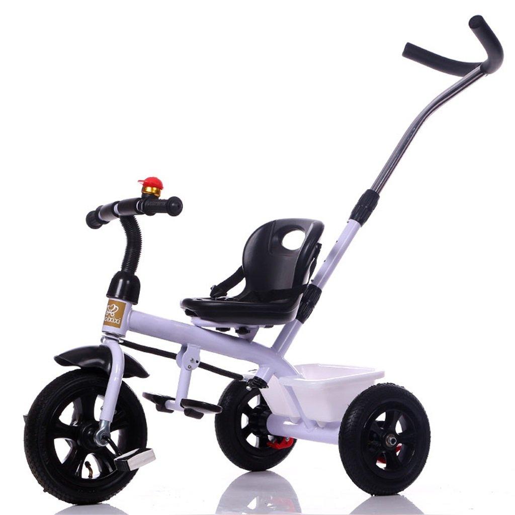 KANGR-子ども用自転車 三輪車の赤ちゃんキャリッジバイク子供のおもちゃの車のインフレータブルホイール/泡輪の自転車3輪、白(少年/少女、1-3-5歳) ( 色 : A type ) B07BTY5JTJA type