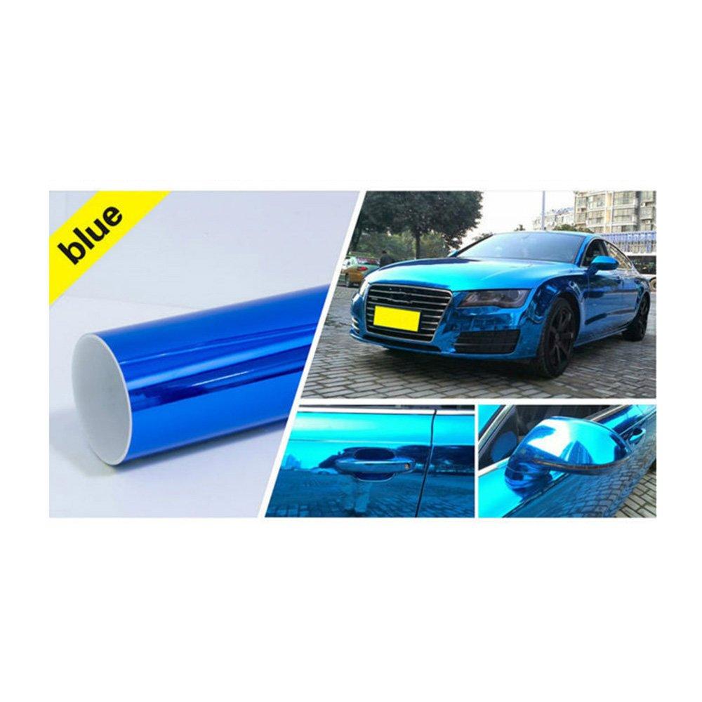 HOHO Blue Change Color Chrome Metalic Vinyl Film Sticker Wrap Car 60''x33ft