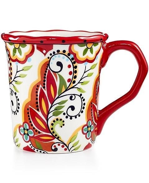 Amazon.com : Bocca Espana Lifestyle Hadcrafted, 14 oz Scalloped Mug ...