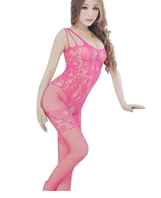 edd9e5972b OnMeFocus Hot Bodystocking Honeymoon Dress Lingerie for Women -WWKL-015  Pink  Amazon.in  Clothing   Accessories