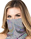 Silver Holographic Pyramid Rave Dust Mask One Size