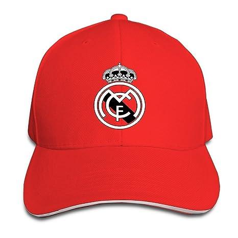 hittings Real Madrid C.F. Logo Football Club Adjustable Sandwich Gorra de béisbol red