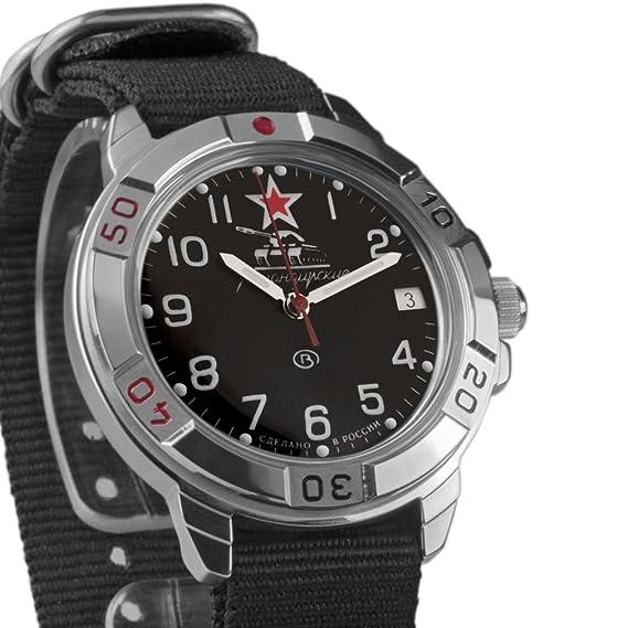 Vostok KOMANDIRSKIE 2414 431306 NB Militar ruso reloj mecánico: Amazon.es: Relojes