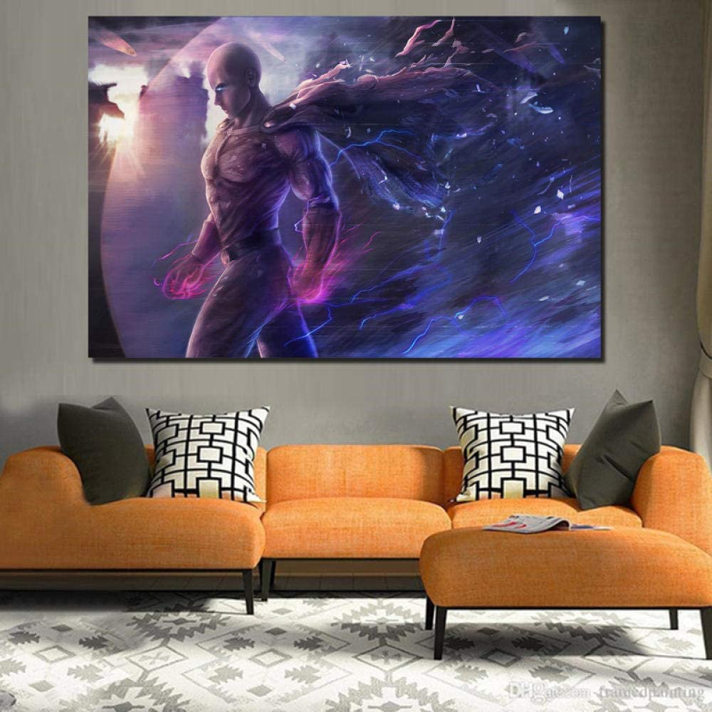 Fgdh Sdf Abstract Canvas Wall Art Anime Background Canvas Painting Print Living Room Home Decoration Modern Wall Art Oil Painting Posters Picture With Frame 40x60cm Amazon Co Uk Kitchen Home