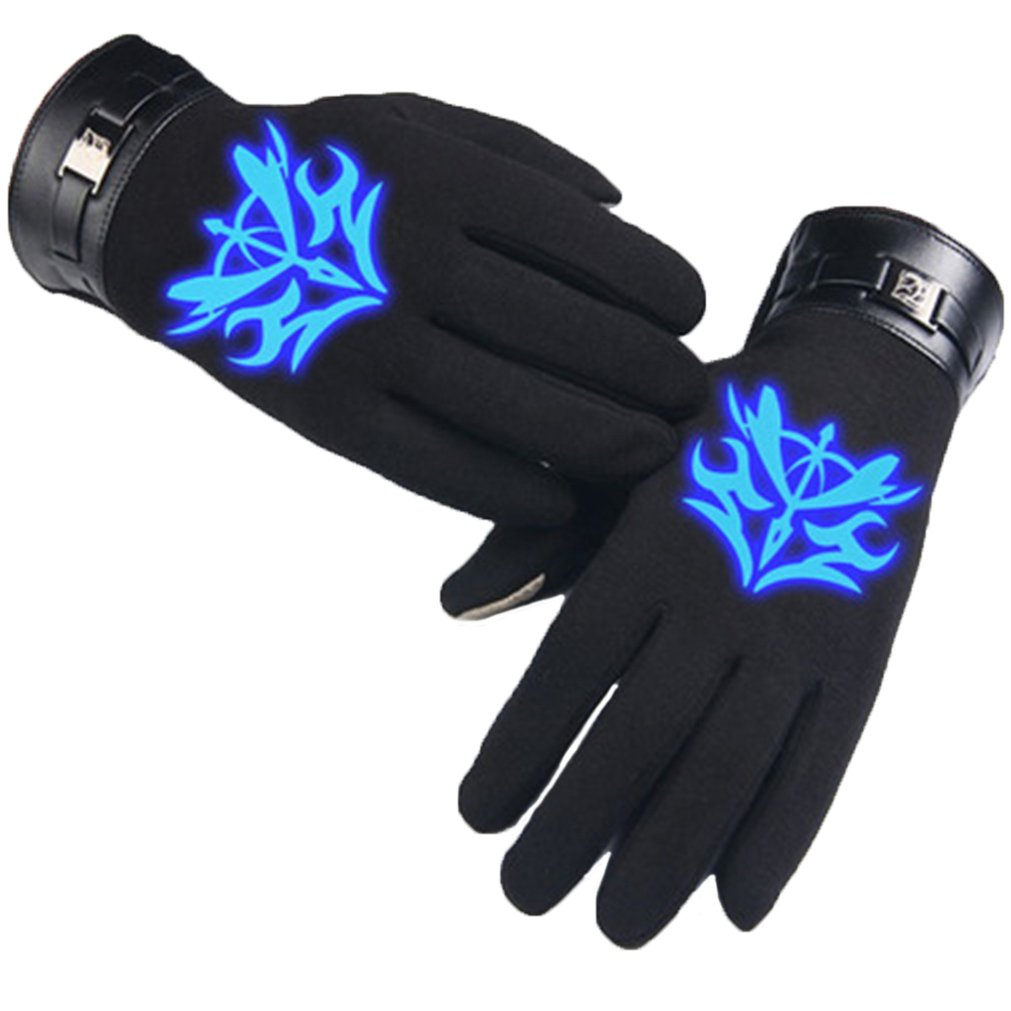 Bromeo Fate Zero Fate stay Night Anime Winter Warm Luminous Touch Screen Gloves Mittens