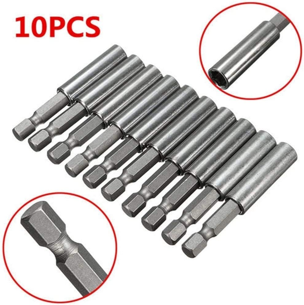 HH-ZZ Industrial Rotary 10pcs 1//4 Inch Hex Shank Release Magnetic Extension Socket Drill Bit Holder Power Tools drill Drill Bits Cutting