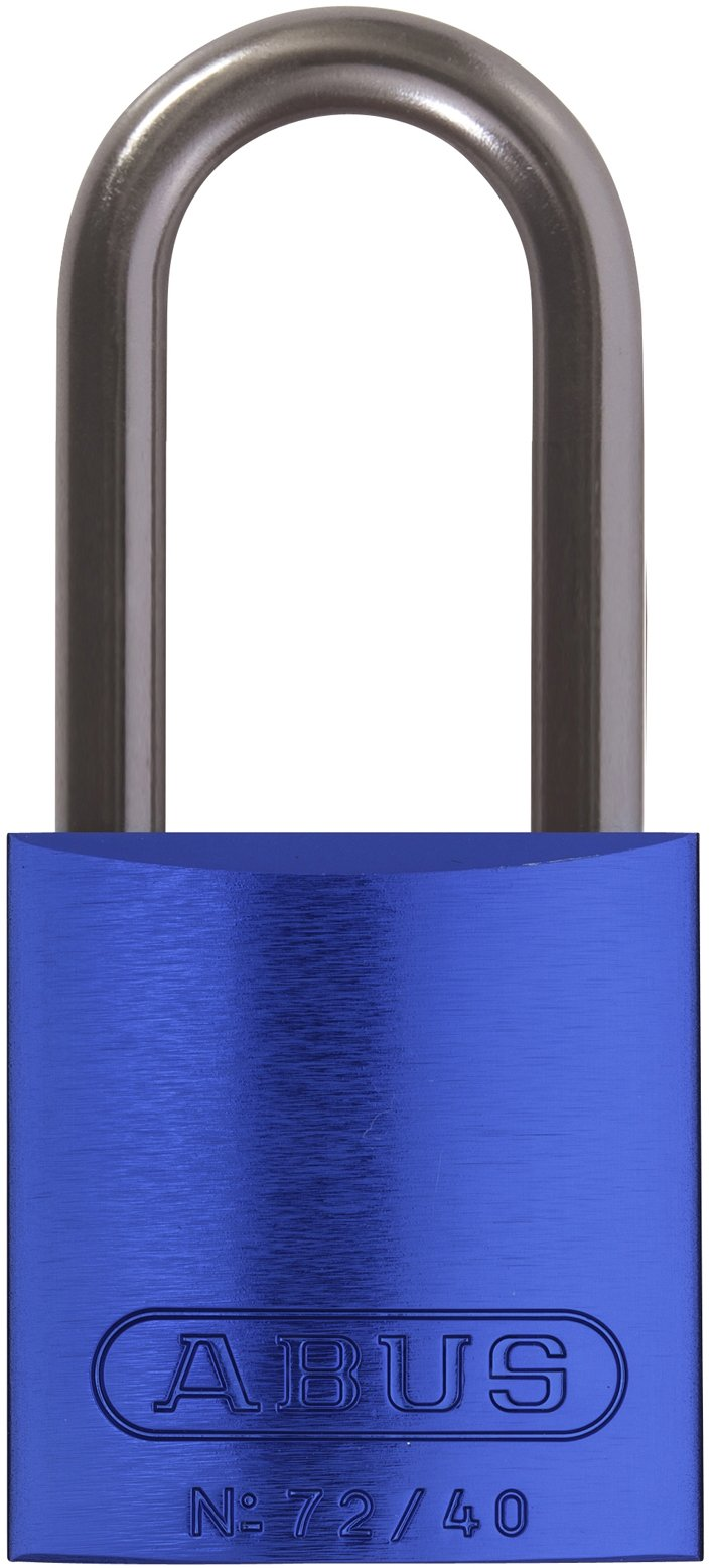 ABUS 72HB/40-40 KA Safety Lockout Aluminum Keyed Alike Padlock with 1-9/16-Inch shackle, Blue