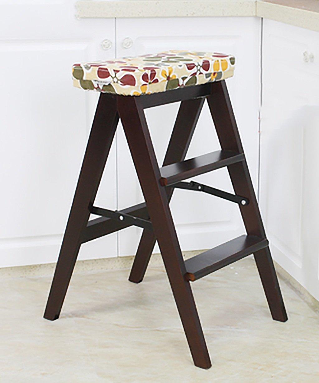 Amazon.de: Massivholz Stuhl Leiter Home Multifunktion Küchenhocker ...