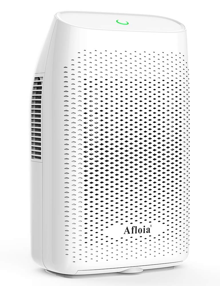 Afloia Portable Electric Dehumidifier for Home 2000ML Water Tank, Home Dehumidifier for Bathroom Dehumidifier for Basement Space Bedroom Kitchen Caravan Office Basement Bedroom Bathroom (White) by Afloia