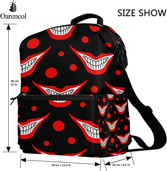 Juggling Clown College School Backpack /Casual Daypack Laptop Backpack for Adults and Kids