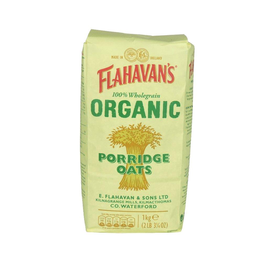 Flahavan's - Organic Porridge Oats - 1kg (Case of 15) by Flahavans