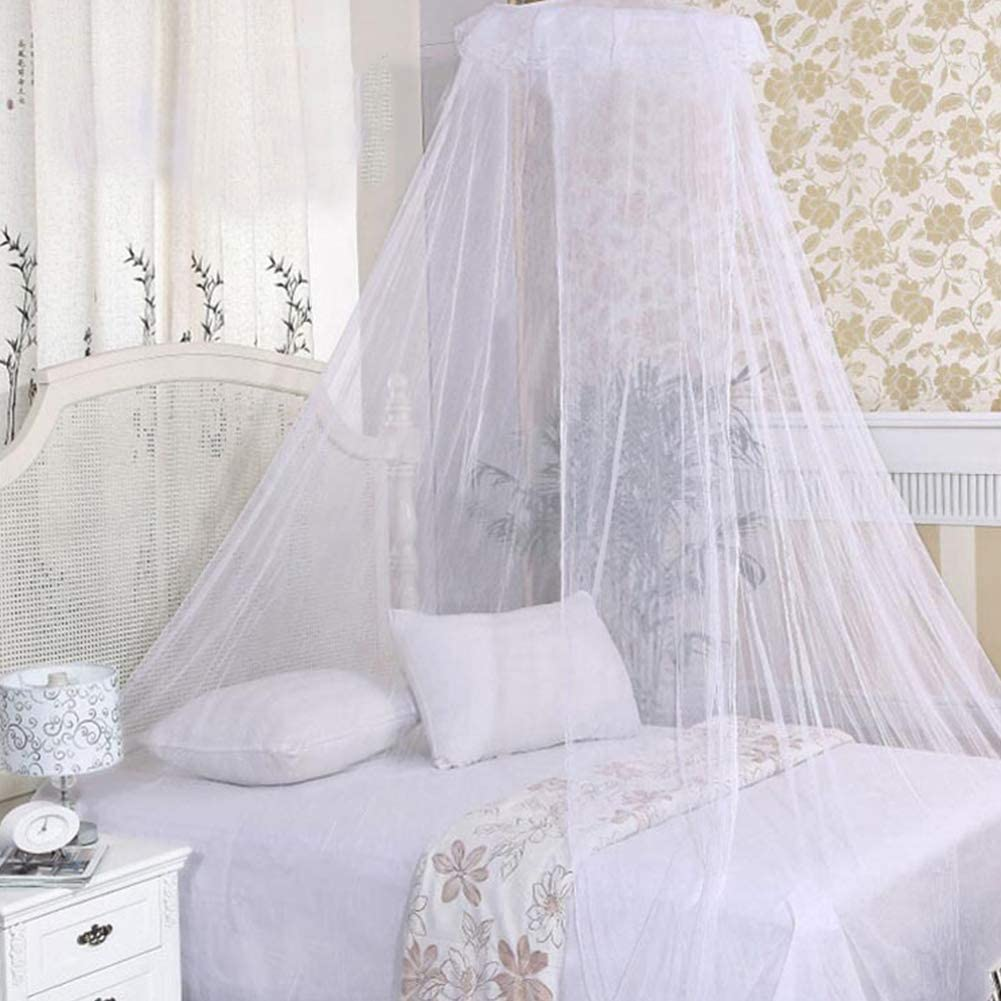 Pink Princess Dome Mosquito Net Mesh Bed Canopy Bedroom Decoration Luxury Princess Bed Canopy Mosquito Net for Girls BESTZY Mosquito Net Teens or Over Baby Crib