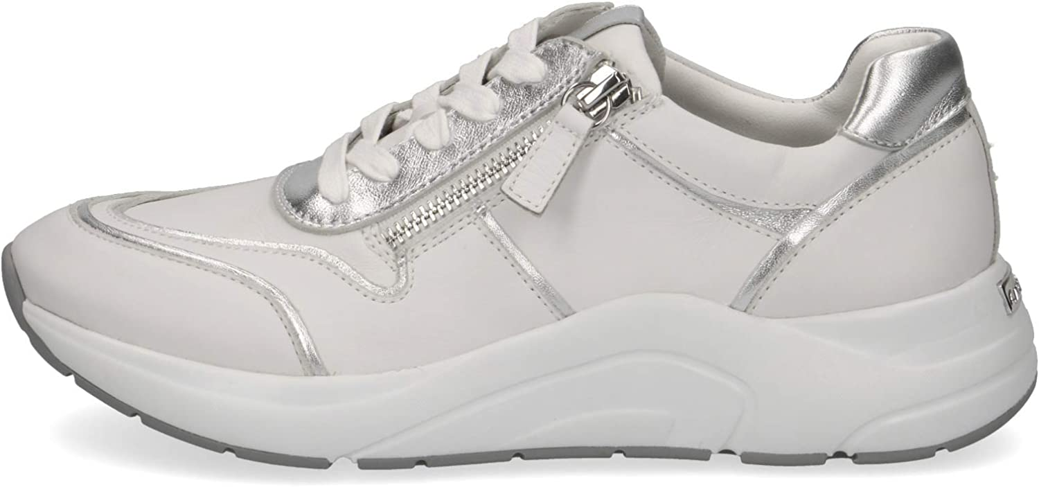 Womens 9-9-23704-24 191 Trainer Shoes White Silver