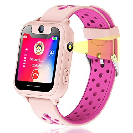 Amazon.com: Niños reloj inteligente, GPS Tracker Smart reloj ...
