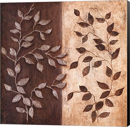 Russet Leaf Garland I by Janet Tava Canvas Art Wall Picture, Museum Wrapped with Black Sides, 20 x 20 inches
