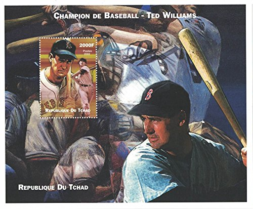 Stamps for collectors - perforfated stamp sheet featuring Sport / Baseball / Ted Williams / Trophy / Baseball Champion