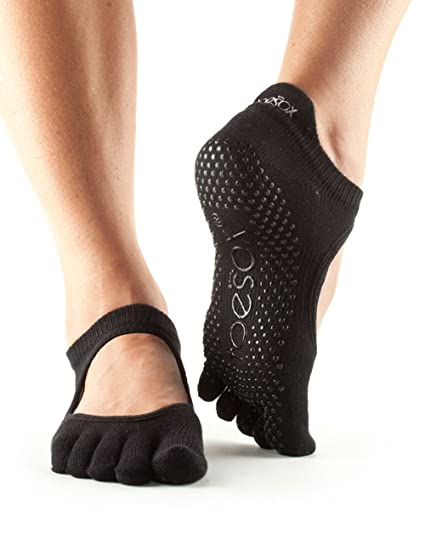 Calcetines antideslizantes para baile Toesox, se pueden utilizar para yoga, pilates y fitness,