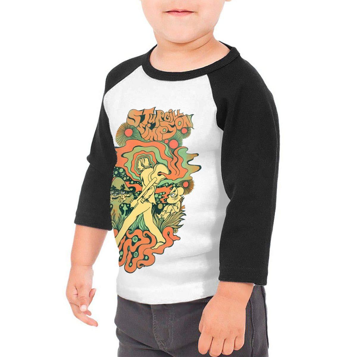 YUIf Kids T Shirts Sturgill Simpson Funny Cotton 3//4 Sleeve Baseball Tee Unisex