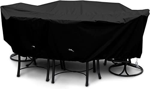 KoverRoos Weathermax 71362 Large High Back Dining Set Cover, 112 by 88 by 36-Inch, Black