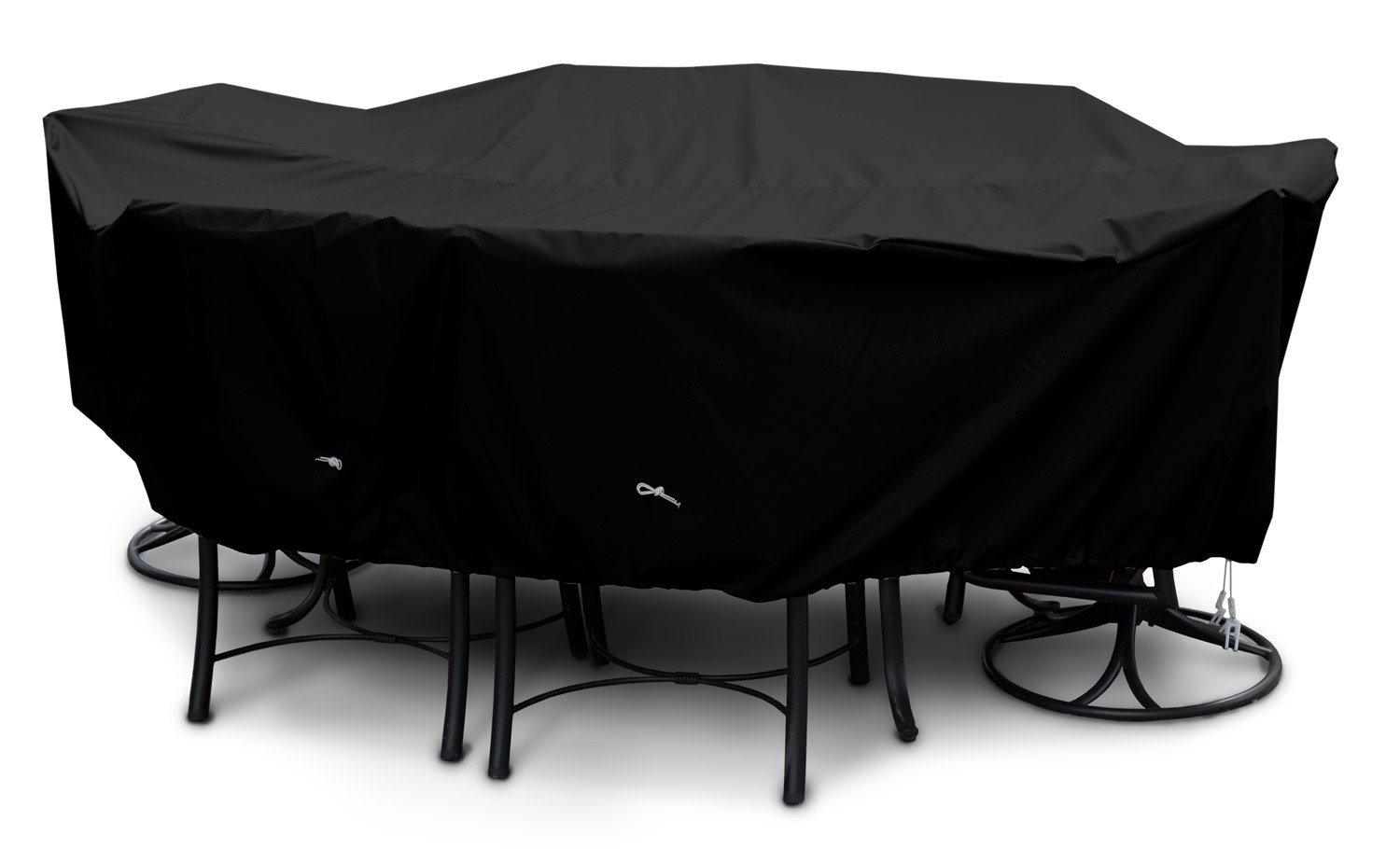 KoverRoos Weathermax 79484 X-Large High Back Dining Set Cover, 121 by 86 by 34-Inch, Black