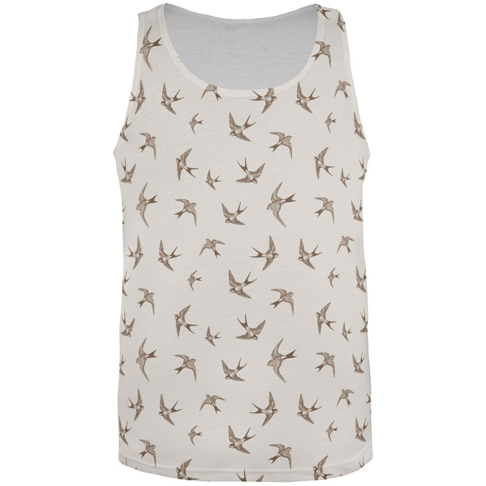 Sparrows All Over Adult Tank Top