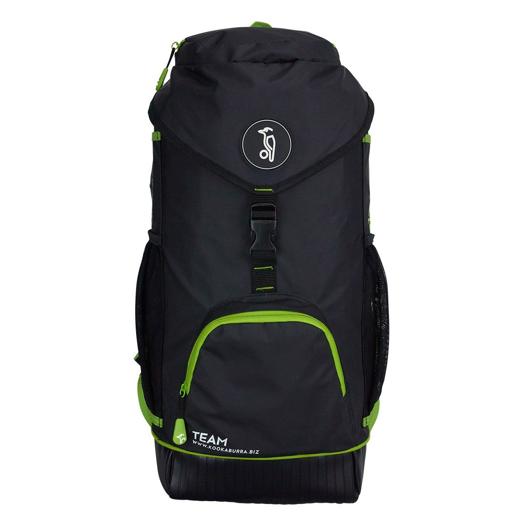 Kookaburra Unisex's Team Hockey Rucksack, Black, x2 Sticks Plus kit-55cm x 30cm x 17cm