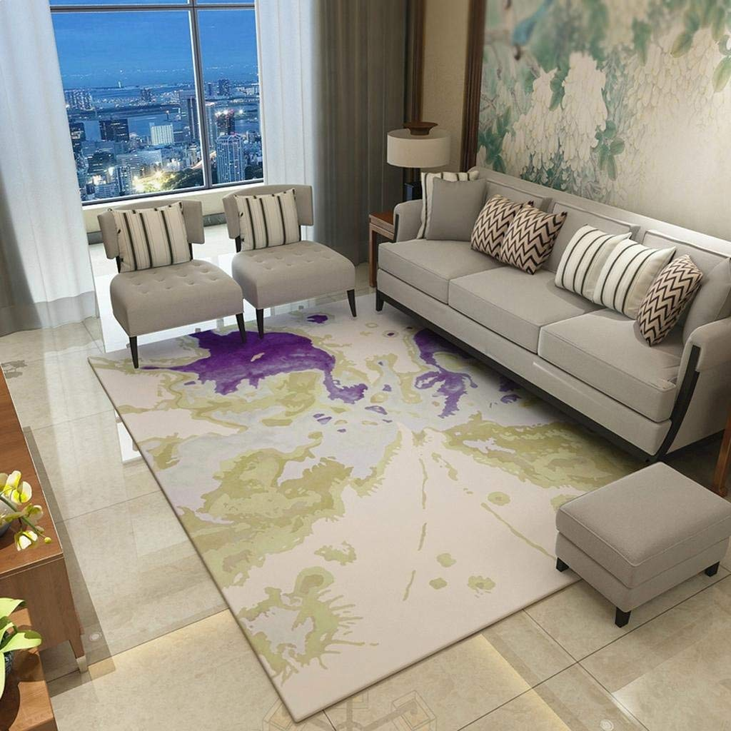 Daicushengmao リビングルームカーペットモダンなミニマリストの寝室のベッドサイドコーヒーテーブルファッションマット エリアラグ (Color : 005, サイズ : 200*300cm) 200*300cm 5 B07SBZQN2V
