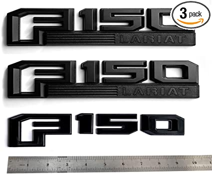 3x OEM Black F-150 Fx4 Side Fender Emblem F-150 Rear Badge 3D logo Ford F150 F