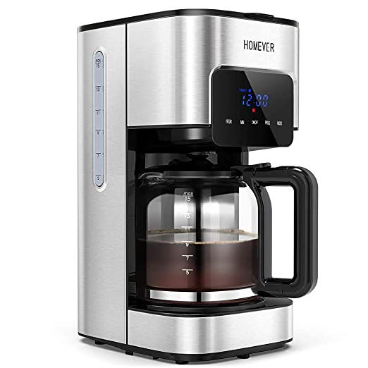 Cafetera con temporizador, cafetera de filtro Homever ...