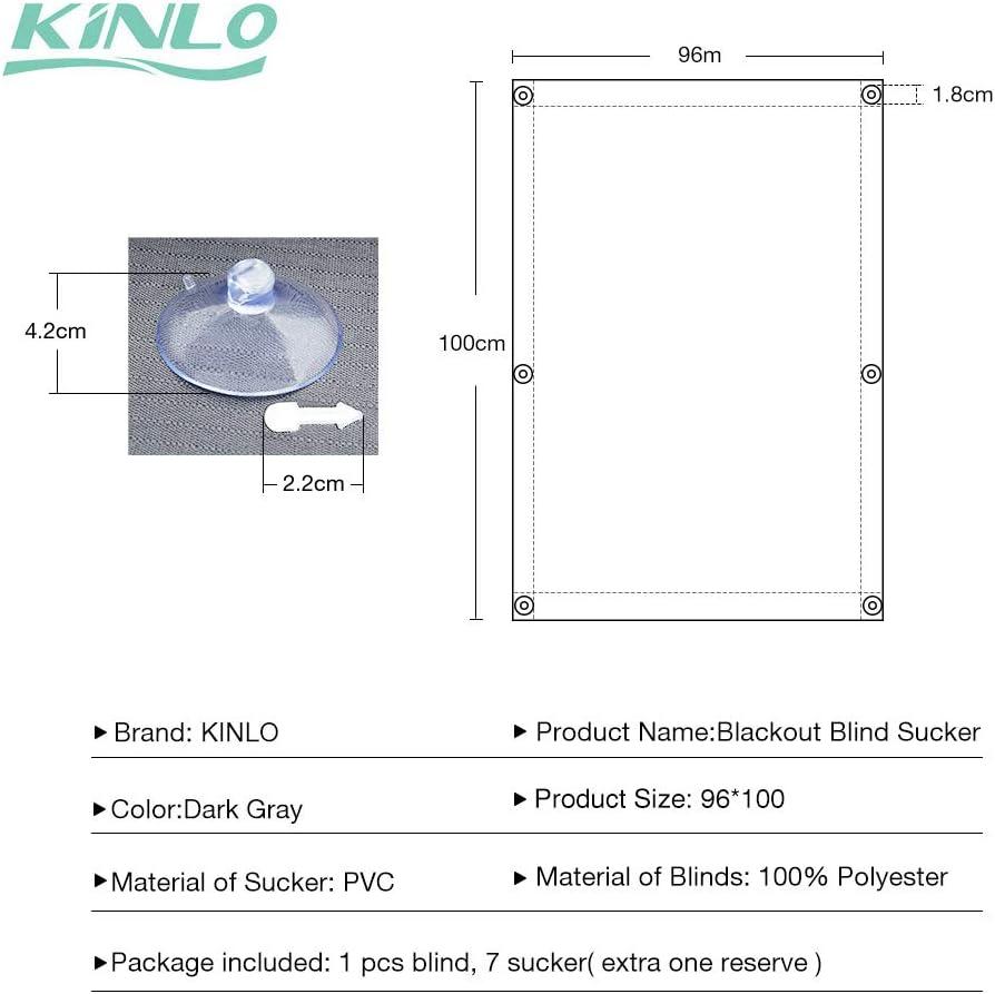 Beige Tenda a Rullo Adatta per Finestre per Tetti Termica per Finestre con Struttura Tazze di Aspirazione KINLO Skylight Tenda Oscurante Velux CK04-38 x 75cm
