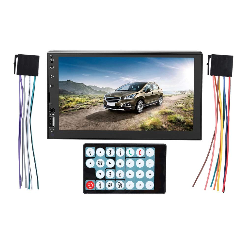 USB//TF//AUX//FM Bluetooth4.0 Stereo Multimedia MP5-7764B with Multi-Touch Capacitive Screen for Hands-Free Calling /& Wireless Audio fosa HD 7in Dual Din Car MP5 Player