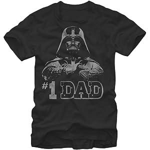 4d041dd3 Amazon.com: Hyp Star Wars Darth Vader World's Greatest Dad Men's ...