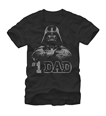 c13feac6 Amazon.com: Star Wars Men's Rogue One Darth Vader #1 Dad T-shirt: Clothing