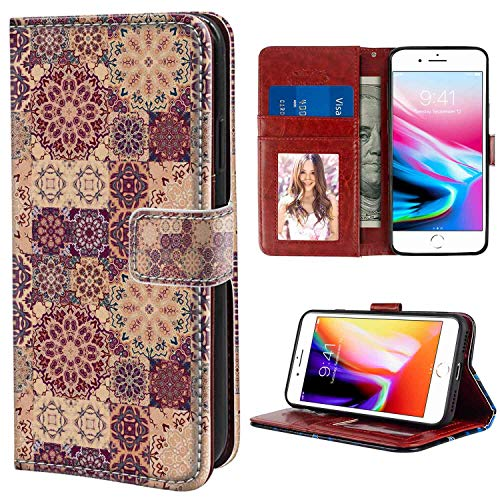 Leather Wallet Case for Apple iPhone 8 Plus | iPhone 7 Plus (5.5