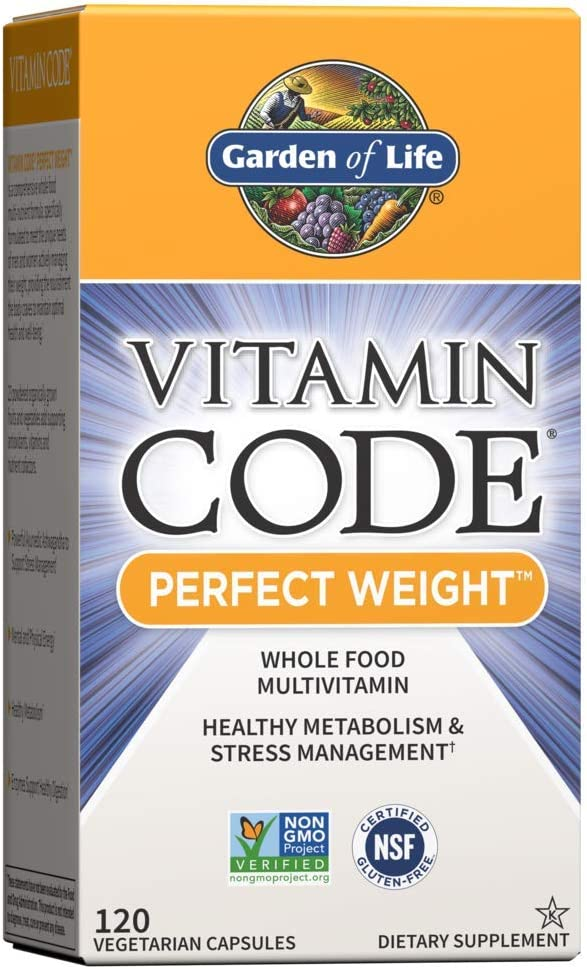 Garden of Life Multivitamin for Weight Management - Vitamin Code Perfect Weight Raw Whole Food Vitamin Supplement, Vegetarian, 120 Capsules *Packaging May Vary*
