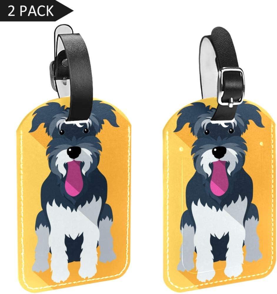 Etiquetas para Equipaje con Lengua de Perro y Maleta de Viaje, 2 Paquetes