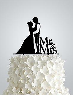 Amazon star wars wedding cake topper unique kitchen dining awac47s acrylic wedding cake topper inspired by star wars junglespirit Gallery