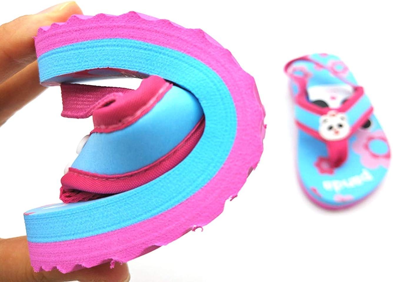 mehrfarbig Coralup Flip-Flops f/ür kleine Kinder leichtes EVA-Material elastischer R/ückengurt