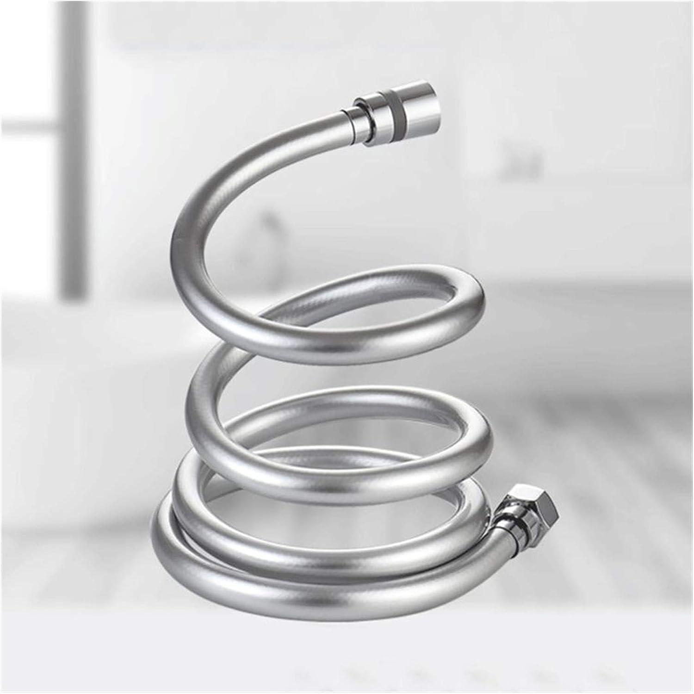 CGRTART Manguera de Ducha 1.5/2 / 3M PVC Manguera DE Ducha Lisa de Alta presión Espesamiento de Alta presión Cabeza de Mano Flexible Anti devanado para Accesorios de Piezas de baño (Color : 2m)