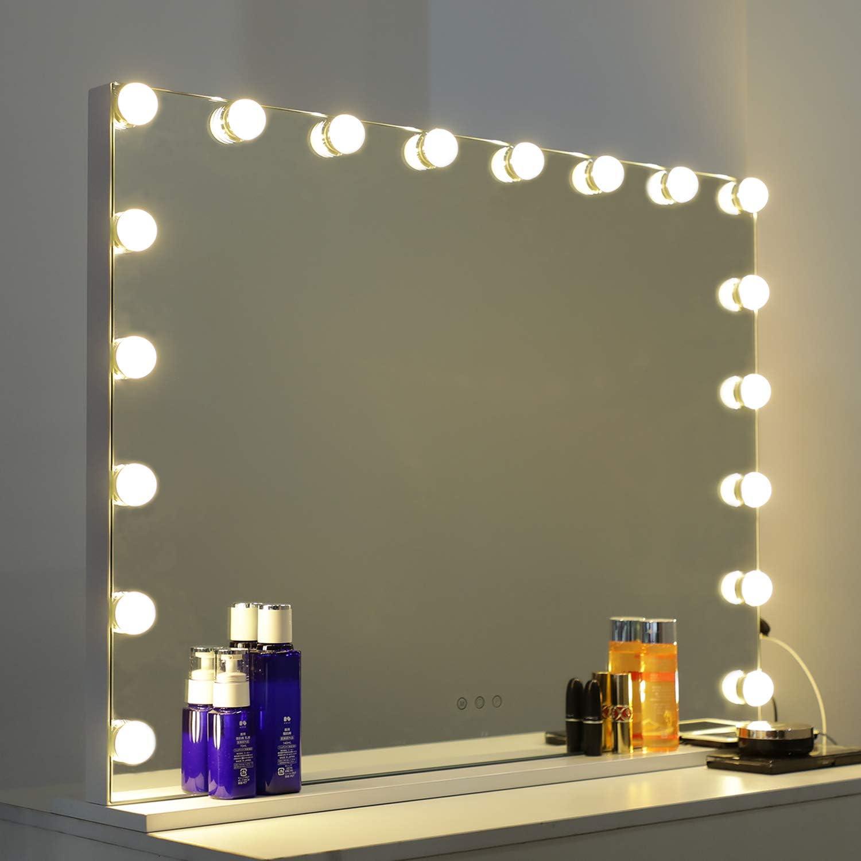 ohne Spiegel und USB-Ladeger/ät USB Aufladen Make up Licht mit 3 Farbmodi und 10 Helligkeiten ZOTO Hollywood LED 10 Dimmbar Schminklicht LED Spiegelleuchte