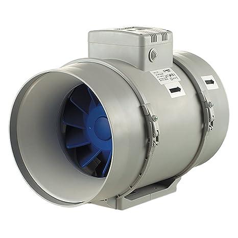 Extractor con turbo, de 100 mm. Color gris, gris,