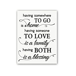 """Inspirational Quotes Art Prints, Set of 1 (12""""X16""""), Having Someone to Love Canvas Poster, Home Love Saying Painting for Bedroom Living Room Home Decor, No Frame"""