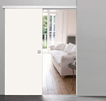 Puerta corredera de madera sin marco Pure en el tamaño deseado ...