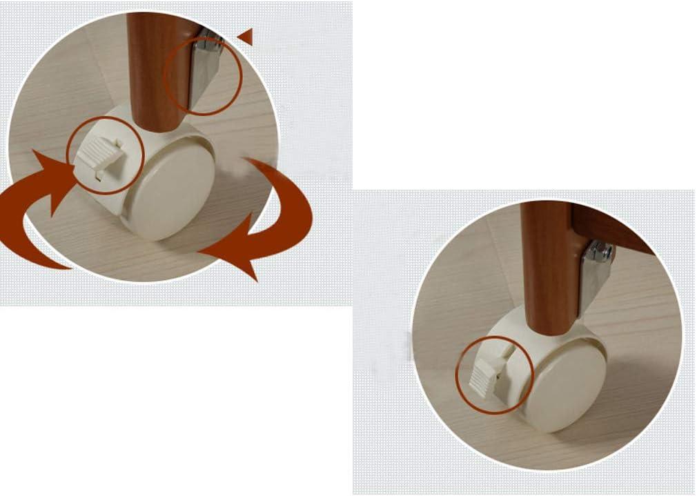 Geovne 4X roulettes avec Frein,Nylon roulettes Pivotantes,Attelle en Forme de U,Lit b/éb/é roulettes,Convient aux Meubles en Bois de 16mm,lit denfant